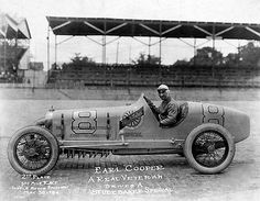 Earl Cooper and his # 8 Studebaker Special, May 30th 1924 Indianapolis 500. Despite 2 blown tires he finished in 2nd place. Mr Cooper was a 3 time (1913, 1915, 1917) National AAA Champion