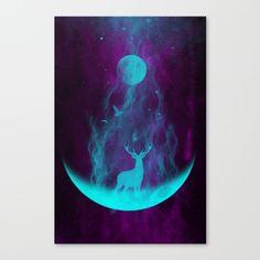 Mystical abstract work on my Society 6 shop. Enjoy, friends.  deer, stag, moon, abstract art, space art, trippy art, stars, galaxy, birds, nature, shaman art, hippie art