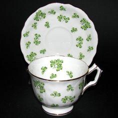 Aynsley Shamrock Tea Cup