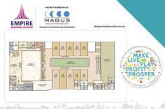 Check out the floor plan of the 1st floor of the commerical space by Empire Centrum.