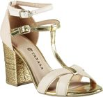 Sandália @Tanara Brasil #Dourado #Golden #Spring #Shoes #summer #looks #Fashion #Trends #Style #metalic