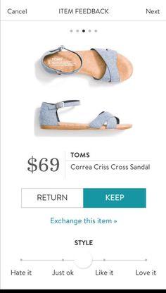 TOMS Correa Criss Cross Sandal from Stitch Fix. https://www.stitchfix.com/referral4292370