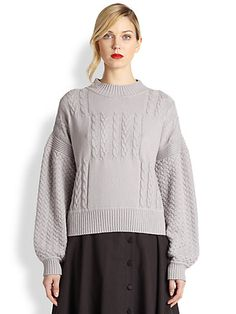 Creatures of the Wind - Salm Cable-Knit Sweater - Saks.com