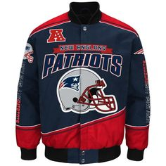 "New England Patriots Men's NFL G-III ""Enforcer"" Premium Twill Jacket #GIII #CarolinaPanthers"