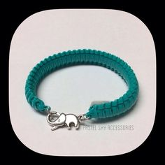 3 for $15 ELEPHANT CLASP bracelet HANDMADE adorable silver elephant clasp with a turquoise color wrap bracelet. this bracelet is a size 7.0 (7 inches around) and can be worn on either hand.  this is a very adorable and cute bracelet for all ages. it can be worn by itself or as an addition to any arm party!  pick any 3 items with  for $15  please don't hesitate to ask questions. thanks for looking ☺️ Jewelry Bracelets
