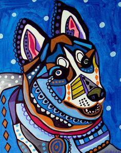 Heather Galler Dog Art: Siberian Husky Dog Art