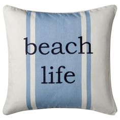Coastal Beach Life Decorative Pillow