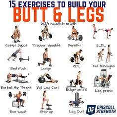 Get Rid of Cellulite With 6 Exercises For Legs and Butt Workout Hey there! Grab your coffee, sip it, and take a read. We all know the booty & leg building craze is nearly more popular than chest. Other than a good looking rump these exercises provide you Leg Butt Workout, Leg Day Workouts, At Home Workouts, Muscular Legs Workout, Lower Body Workouts, Leg Strength Workout, Glute Workouts, Weight Training Workouts, Workout Routines