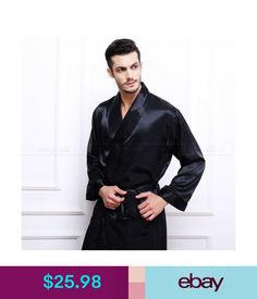 5cae322c51 Sleepwear  amp  Robes Mens Silk Satin Robes Bathrobe Nightgown Sleepwear  Pajamas S3Xl Plus  ebay