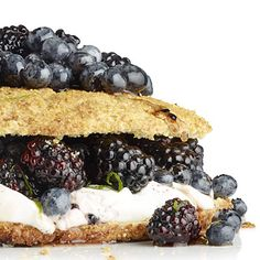 Yes, we consider this breakfast! Cornmeal Shortcake With Maple Berries | health.com