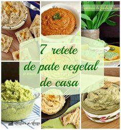 7 retete de pate vegetal de casa, delicioase si sanatoase Vegan Sauces, Raw Vegan Recipes, Vegetarian Recipes, Cooking Recipes, Healthy Recipes, Moussaka, Good Food, Yummy Food, Tasty