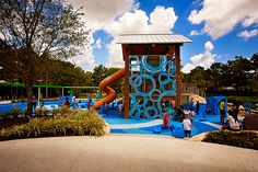 Exploration Park image: Katya Horner Kids Play Equipment, Blue Building, Water Ripples, Water Conservation, Outdoor Play, Landscape Design, Playgrounds, Explore, Park