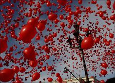 Red balloons  #redcarpetred