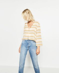 Image 1 of LIMITED EDITION JACQUARD TOP from Zara