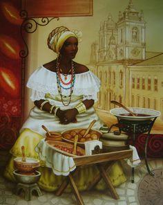O Nefertiti a Sud Americii, Black Women Art, Black Art, Arte Black, African American Artwork, Afrique Art, African Paintings, Spiritual Images, Caribbean Art, Art Corner