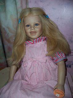 vintage Annette Himstedt Doll -Lisa US 1986 barefoot childrens series