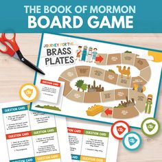 The Book of Mormon Board Game - Great for teaching Primary children (Primary 3 Lesson 17)