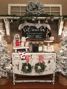 shop: Hot cocoa bar sign, Christmas sign, winter sign, valentine sign, gift Excited to share this item from my Christmas Fireplace, Farmhouse Christmas Decor, Country Christmas, Christmas Signs, White Christmas, Christmas Home, Christmas Wreaths, Holiday Decor, Christmas Staircase