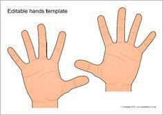 Editable hands templates (SB8174) - SparkleBox
