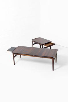 Peter Hvidt & Orla Molgaard Nielsen coffee table & side table in solid palisander / rosewood at Studio Schalling