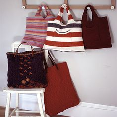 Recycled sweater totes