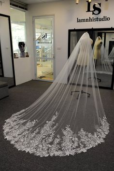 Discover recipes, home ideas, style inspiration and other ideas to try. Cathedral Wedding Dress, Wedding Dress With Veil, Wedding Dress Train, Country Wedding Dresses, Modest Wedding Dresses, Wedding Lace, Cathedral Wedding Veils, Geek Wedding, Cathedral Train