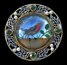 Essex Crystal Robin Brooch