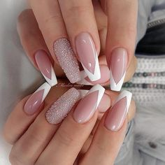 - french nails ombre classy – French ombre classy nails … – French na - Frensh Nails, Swag Nails, Grunge Nails, French Tip Acrylic Nails, Best Acrylic Nails, Fire Nails, Dream Nails, Nagel Gel, Stylish Nails