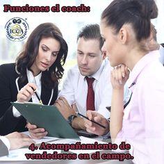 Funciones el coach:  4. Acompañamiento de vendedores en el campo.  #FuncionesdelCoach