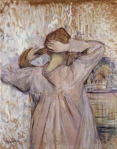 HENRI DE TOULOUSE - LOUTREC, LA TOILETTE ( CELLE QUI SE PEIGNE ) ( 1891 )