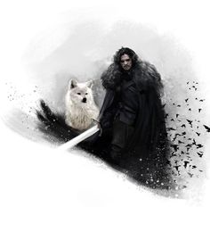 Amazing Digital Painting of Jon Snow and Ghost by art_of_mauk Like us on Facebook