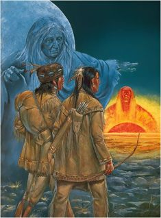 Iosco - The Prairie Boy's Visit To The Sun and Moon - Myth from The Ottawa Tribe...