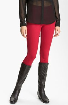 Hue Denim Leggings, love the red