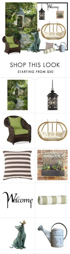 """A corner of my garden!"" by colchico ❤ liked on Polyvore featuring interior, interiors, interior design, home, home decor, interior decorating, ELK Lighting, Pottery Barn, Amazonas and Fresh American"