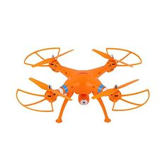 Water  Wood 24GHz 6Axle Gyro RC Quadcopter Drone RTF with 2MP Wifi Camera for Syma X8W Orange -- Visit the image link more details.
