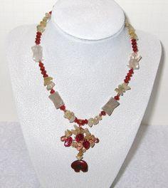 Poppy Jasper Zuni Bear Pendant Handmade by DeanasQuiltsandMore, $30.00