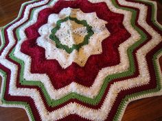 Traditional Tree Skirts with Faux Fur Yarns