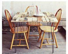 mesa de comedor de palets paso a paso