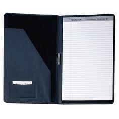 Ultra Bonded Leather Legal Size Padfolio - 755-BLACK-8