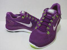 WOMEN'S NIKE LUNARGLIDE+ 5 Running Shoes Bright Grape/Wht-Vlt 599395 501 #Nike #RunningCrossTraining