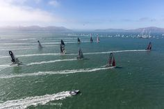 A breathtaking aerial view / ACWS August San Francisco Bay / ORACLE TEAM USA