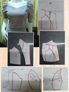 12 Sewing Patterns Tips Pattern Draping, Bodice Pattern, Sleeves Designs For Dresses, Sleeve Designs, Dress Sewing Patterns, Clothing Patterns, Sewing Sleeves, Costura Fashion, Sewing Blouses