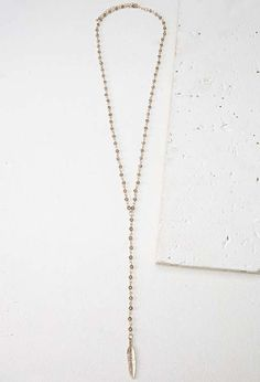Forever 21 | Longline Feather Charm Necklace #Forever21 #feather #necklace
