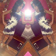 Tye Dye Side Ruched Dress! Nwot