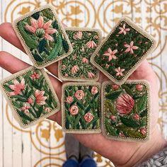 Edina Marácz (@edina1991) • Instagram-fényképek és -videók Ribbon Embroidery, Floral Embroidery, Embroidery Ideas, Blue Haired Girl, Floral Patches, Textiles, Summer Accessories, E Design, Hand Stitching