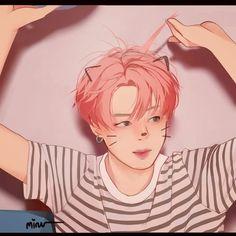 Peachy baby 🍑🍑 . . . #BTS #bangtan #bangtanboys #bangtansonyeondan #btsfanart #jimin #illustration #art #digitalart #drawing #draw Yoonmin Fanart, Jimin Fanart, Kpop Fanart, Jikook, Bts Jimin, Jimi Bts, Park Ji Min, Kpop Drawings, Fanarts Anime