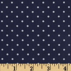 Michael Miller Pinhead Dot Navy from @fabricdotcom  From Michael Miller, this cotton print is perfect for quilting, apparel and home decor accents.  Colors include white and navy blue.
