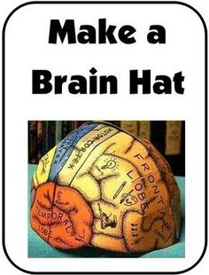 """NEW DOWNLOAD: Make a """"Brain Hat"""" What a fun way to learn about the different parts of the brain and the functions of each part! Includes templates for different 'sizes' (child through adult). Download Club members can download @ www.christianhome..."""