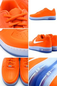 "Nike Air Force 1 Foamposite Pro Low ""Safety Orange"" - EU Kicks: Sneaker Magazine Basket Sneakers, Shoes Sneakers, Roshe Shoes, Women's Shoes, Nike Free Shoes, Nike Shoes Outlet, Nike Air Force, Baskets, Melissa Shoes"
