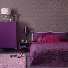 Purple with fucsia pillows